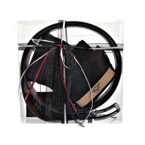 48640969642 Σετ δώρου VQF Italia – Μία ανδρική δερμάτινη ζώνη & δύο ζεύγη ανδρικές  κάλτσες 15094