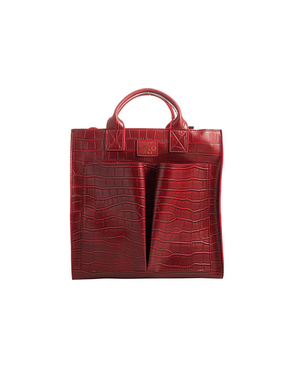 be0a0df7ed Eco leather handbag VQF POLO AW181401 – Γυναικεία τσάντα ώμου από συνθετικό  δέρμα